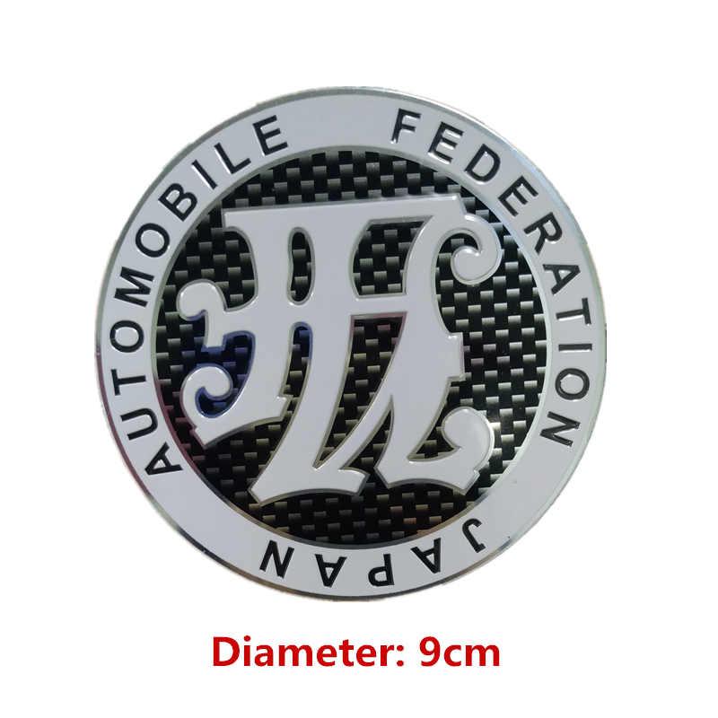 Новый автомобильный Стайлинг 9x9 см, универсальный автомобильный значок с зеркальной отделкой для японской автомобильной федерации эмблема...