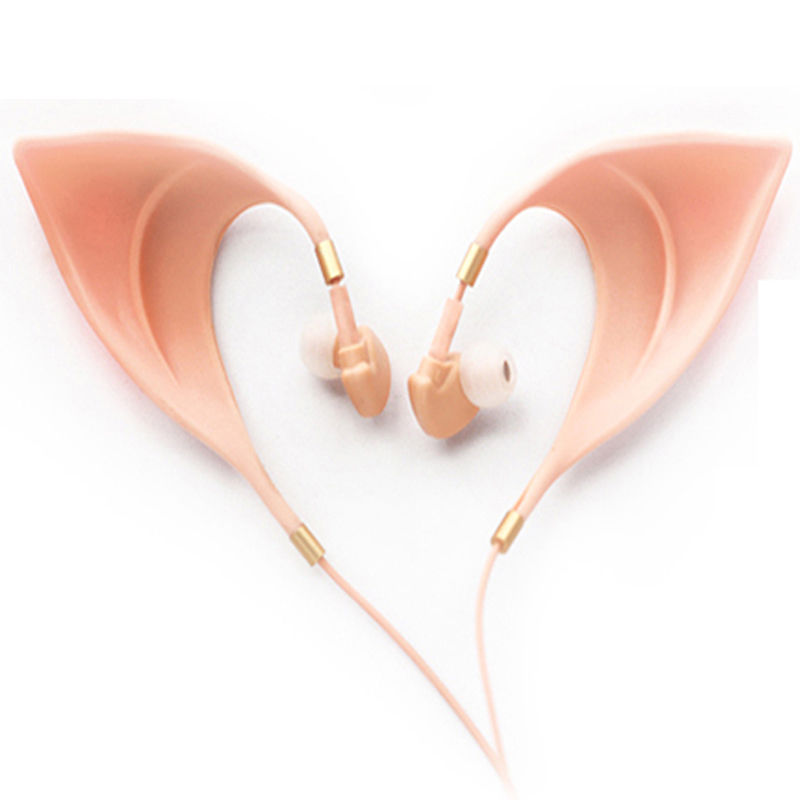 In-Ear Earbuds Cosplay The Elves Spirit Elf Plug Microphone Beige Earphone Magic Props Gift Drop Ship