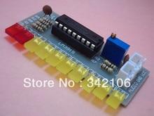 Free Shipping!!!  5pcs LM3915 Fun 10 segment audio level indicator kit / electronic production parts 10 level indicator