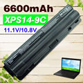 6600 mah bateria do portátil para dell xps 14 15 17 l401x l501x l502x l701x l702x 312-1123 312-1127 j70w7 jwphf r795x whxy3