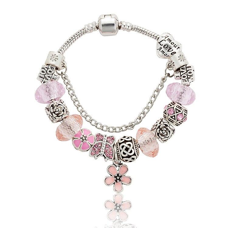 Aliexpress.com : Buy Cute Women Bracelet Silver Plated ...