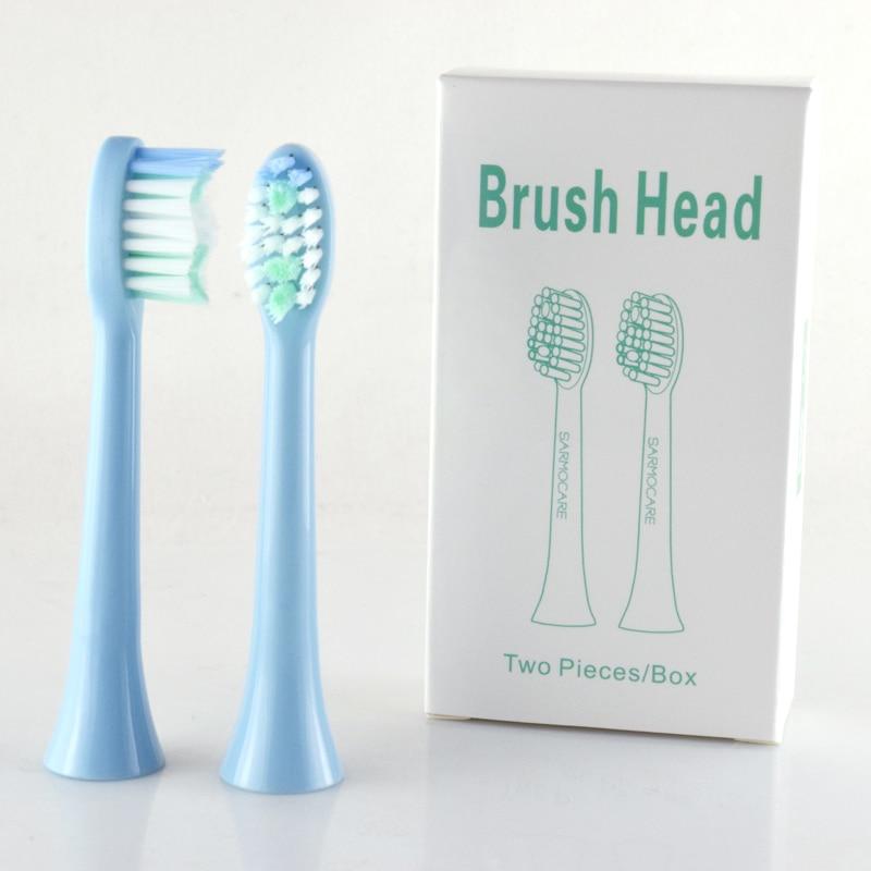 sarmocare 10 pcs lote s100 e s200 cabeca escova de dentes eletrica substituicao para ultra sonic
