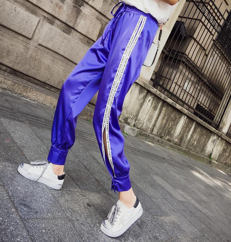 Hiphop purple sweatpants female hip hop Korean version of the tide student loose Dance pants 23