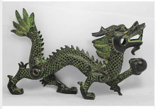 wholesale Retro bronze factory outlets Large rare CHINESE HANDWORK DRAGON OLD wedding Brass Fine Arts Crafts decoration