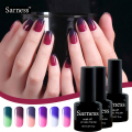 sarness Gel Nail Polish Set Temperature Color Nail Gel Lamp Glue Gel Varnish Nail DIY Professional UV Nail Gel Polish