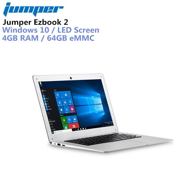 Jumper Ezbook 2 14.0 ''LED FHD 10000 mah Ultrabook Portable Windows 10 Intel Cerise Sentier X5 Z8350 Quad Core 4 gb + 64 gb Ordinateur Portable HDMI
