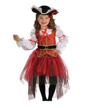Halloween Christmas pirate costumes  girls party cosplay costume for children kids clothes CL56157