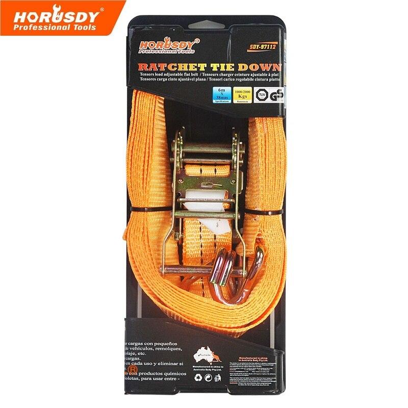 Ratchet tie down 6mx38mm Premium Ratchet Tie Downs Max Load 1000Kg ratchet tie down 5mx25mm metal buckle ratchet tie down strap 10m length