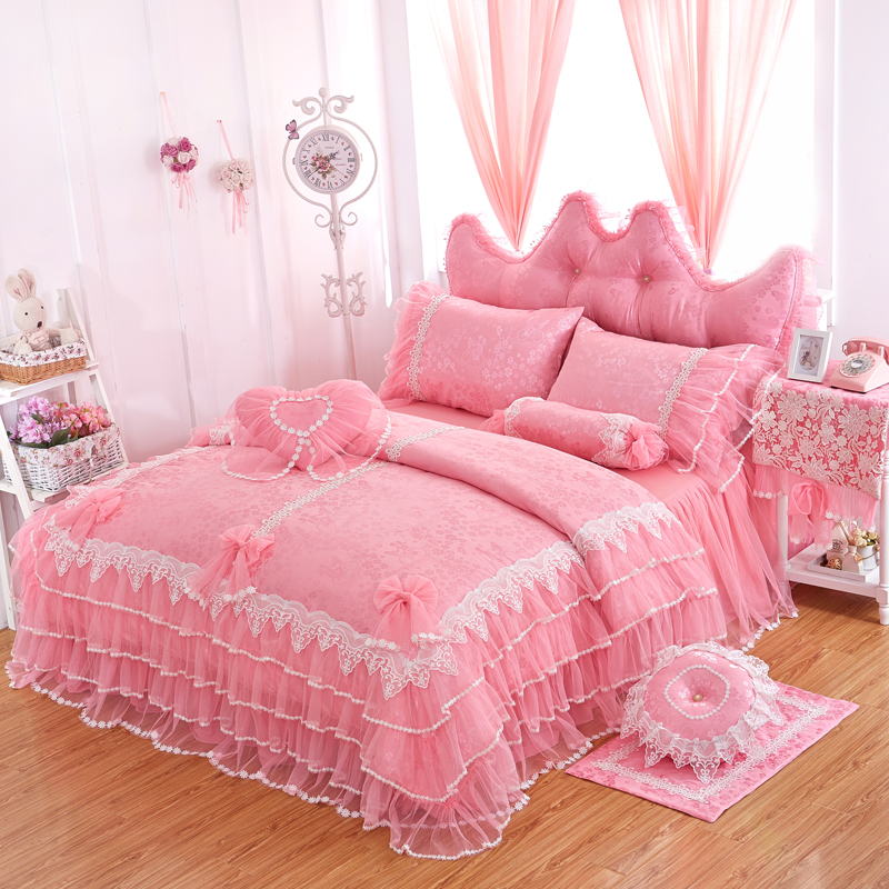 Wwwcrbogercom Aliexpress Buy Bed Lace Pink
