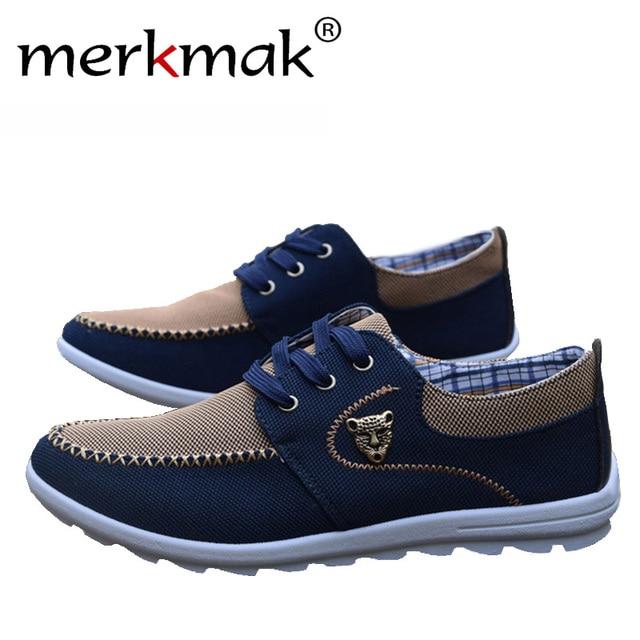 2017 новый летний бренд холст повседневная мужская плоская обувь соответствующие плоские упражнения обувь мужчины удобные теннис размер лодка обуви 39-44