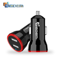 TIEGEM 5V 2A Universal Dual Usb Car Charger Adapter Portable Auto Usb Charger for iphone for samsung Mobile Phone Car Charger