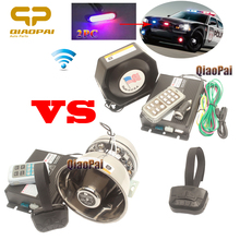 купить Universal Multi Tone Car Alarm Horn Police Warning Siren Wireless Speaker 200W Megaphone for Mic PA System VW CRV Lights Strobe по цене 1193.91 рублей