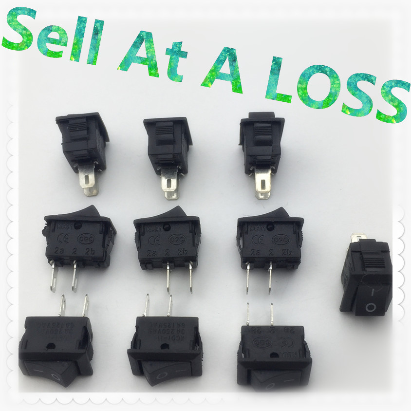 10pcs/lot 10*15mm SPST 2PIN ON/OFF G130 Boat Rocker Switch 3A/250V Car Dash Dashboard Truck RV ATV Home mylb 10pcsx ac 3a 250v 6a 125v on off i o spst 2 pin snap in round boat rocker switch