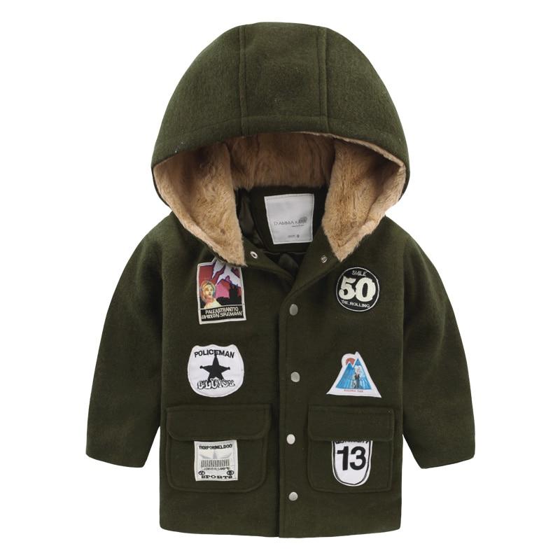 The boy cloth cotton padded coat clip 2016 new winter kids children baby coat U5625