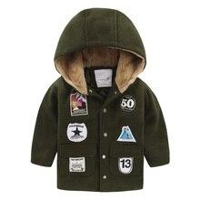 Мальчик ткань хлопок проложенный пальто клип 2016 новый зимние дети ребенок ребенок пальто U5625