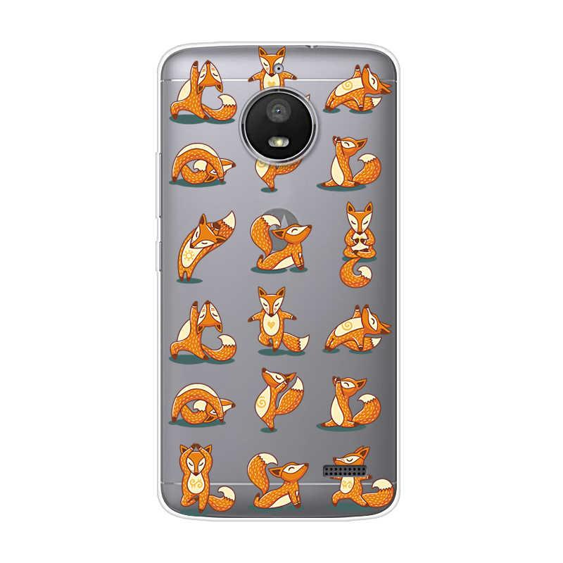 モトローラモト E4 E4 プラスモト X4 透明印刷描画シリコン電話ケースカバーモトローラモト E4 プラス X4