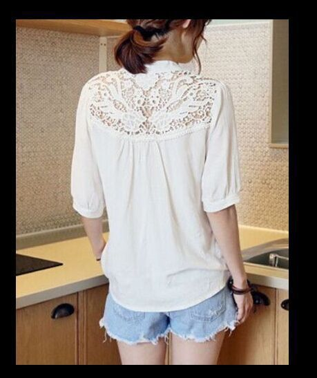 womens blouse autumn hot sale hollow out tops v-neck sexy shirts solid sexy slim comfortable female clothing vintage shirt