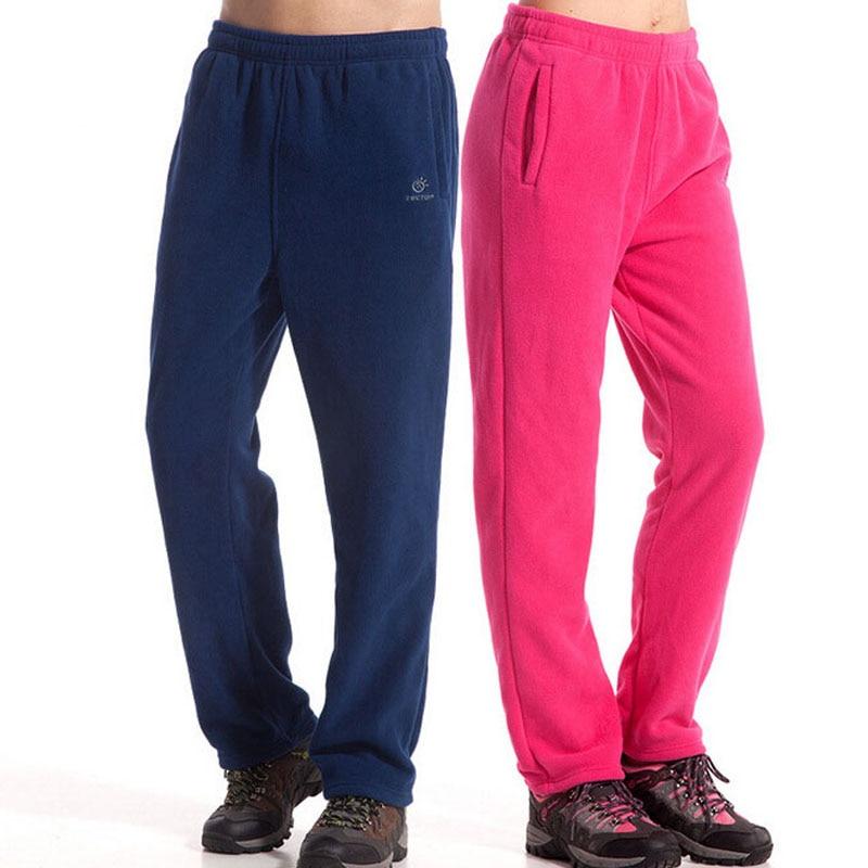 Winter Spring Warm Fleece Pants Men Women Outdoor Hiking Camping Fishing Trousers Sports Ultralight 8 Colors
