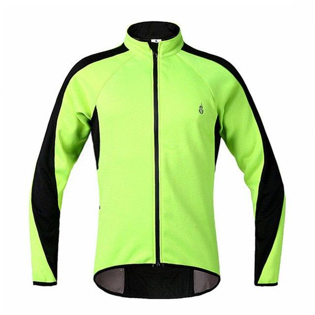 61195c0adfb0e Fluorescente verde polar Ciclismo chaqueta hombres mujeres Bicicletas ropa  chaqueta ciclismo impermeable Ciclismo chaqueta de invierno