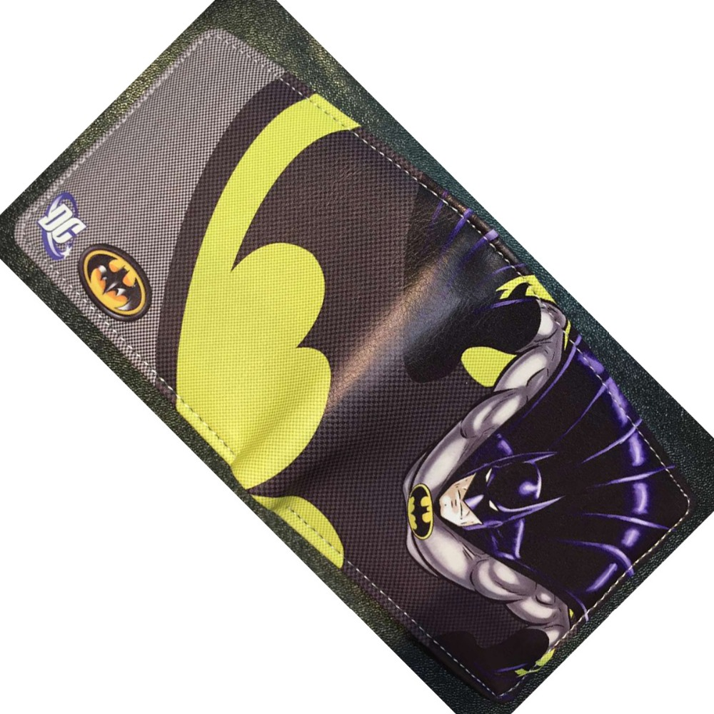 DC Comics Batman Wallets Cartoon Animation Super Hero Series Purse for Yong Gift Money Bags Leather Short Wallet 6pcs lot 7cm naruto action figure set q edition toy naruto japan anime figures model toy set action toys