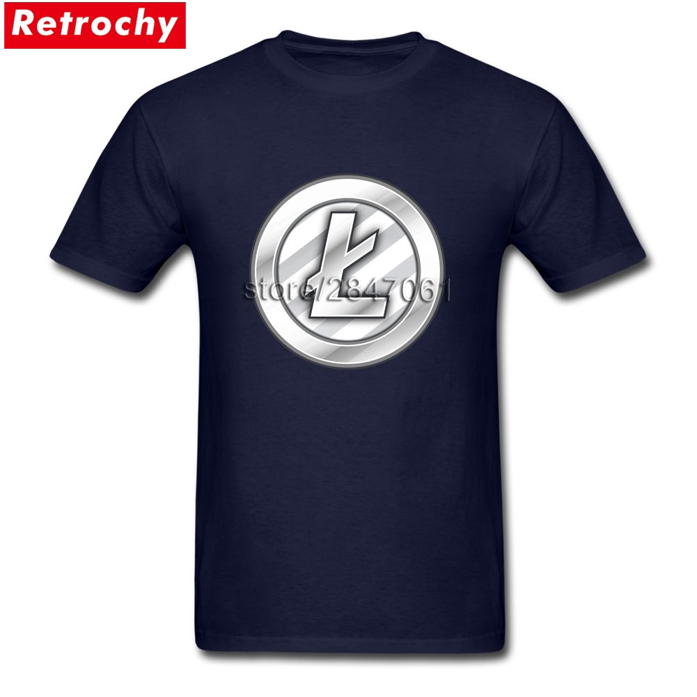 Vintage Graphic Funny Litecoin Tees for Men Luxury Brand Short Sleeves Boy T Shirts Dropship Wholesalers