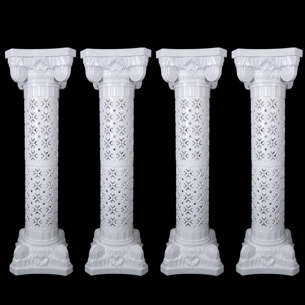 4pcs/lot Plastic roman column plastic pillars wedding stands Bouquet Sets road leads flower wedding Decoarion Photography Props