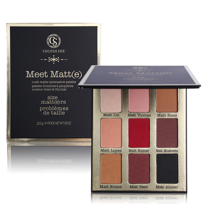 Professional 9 Color Meet Matt(e) Eye Shadow Palette Matte Eyeshadow Palette Make Up Cosmetics COCOSH SHE Brand Makeup Set women newthe balm california and colour that 9 colour cosmetics makeup eyeshadow palette paleta de sombra eye shadow