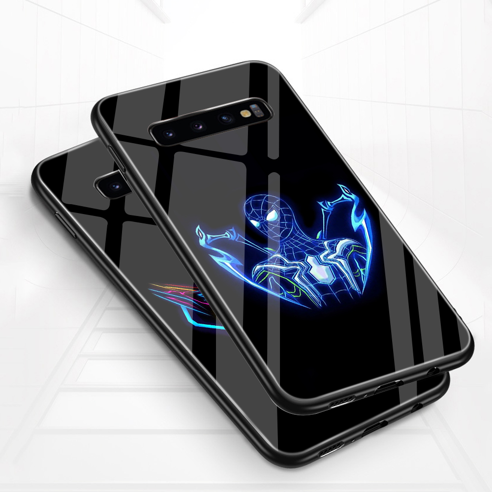 Image 2 - ciciber For Samsung Galaxy S10e S10 S9 S8 Plus S10+ S9+ S8+ Phone Cases for Samsung Note 9 8 Tempered Glass Cover Spider Man-in Fitted Cases from Cellphones & Telecommunications
