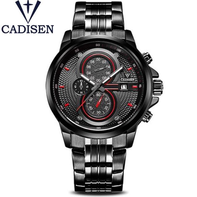 2017 Brand Name CADISEN Men's Watches Pilot Military Sport Quartz Wristwatch Famous Male Clock