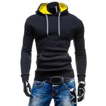 ZOGAA 2019 New mens fashion leisure hooded MEN soild patchwork men hoodies sweatshirts clothing