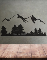 Landscape Vinyl Wall Decal Sticker Snow Mountain View Trees Home Decor Living Room Removable Wall Stickers