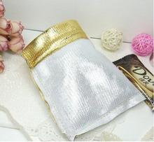 13*18cm 1000pcs Handmade Gold Drawstring Bags for Wedding/Party/Gift/bracelets/necklace Pouches jewelry packaging display bags