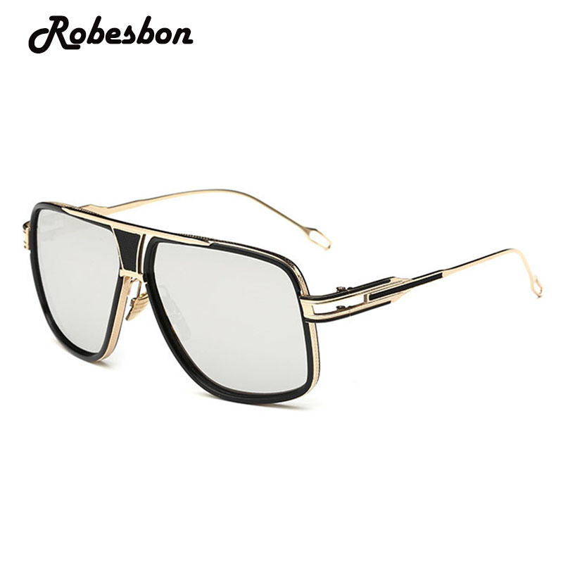 Classic Metal Sliver Color Sunglasses Men Square Fashion Driving Glasses for Women Retro ...