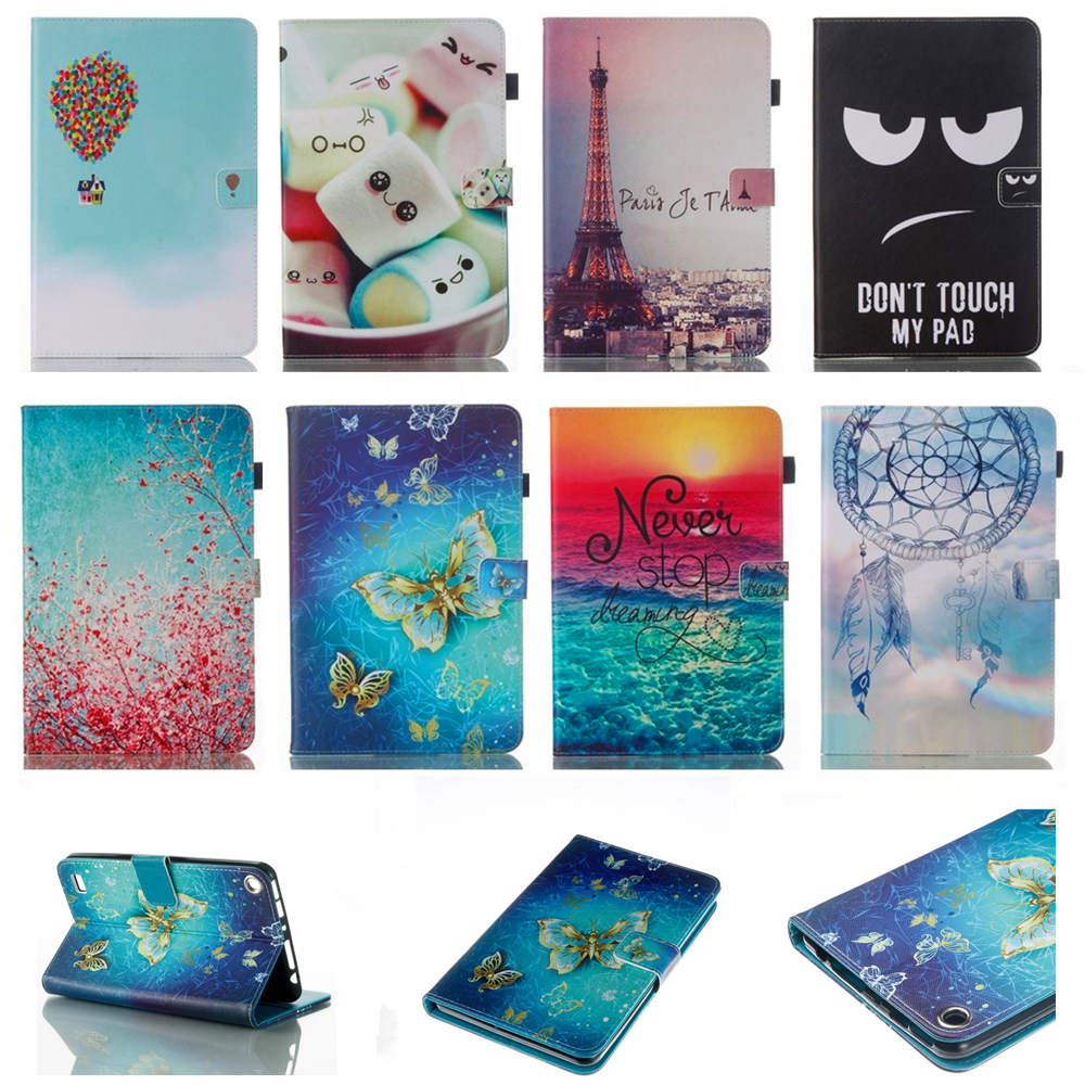 Kindle Fire 7 Case Kids Baby Safe Dreaming Eiffel Tower painted PU Leather Case Cover For Amazon Kindle Fire 7 2015 Tablet
