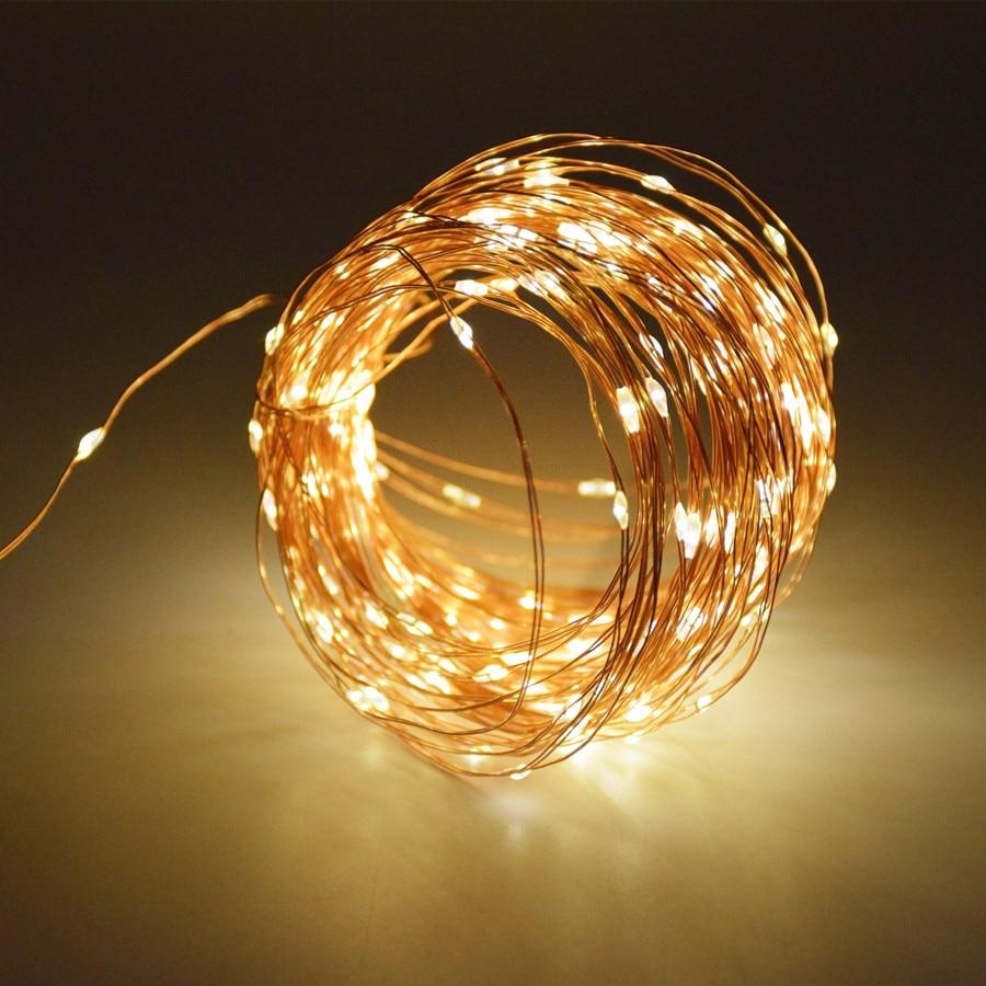 שמש מחרוזת אור 100/150 / 200LED נחושת חוט חוט מחרוזת פיות אורות אור עמיד במים עם השמש פאנל צד קישוט