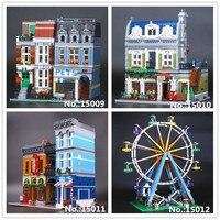 LEPIN 15009 PetShop 15010 Parisian Restaurant 15011 Detective's Office 15012 Ferris Wheel Building Blocks10218 10243 10246 10247