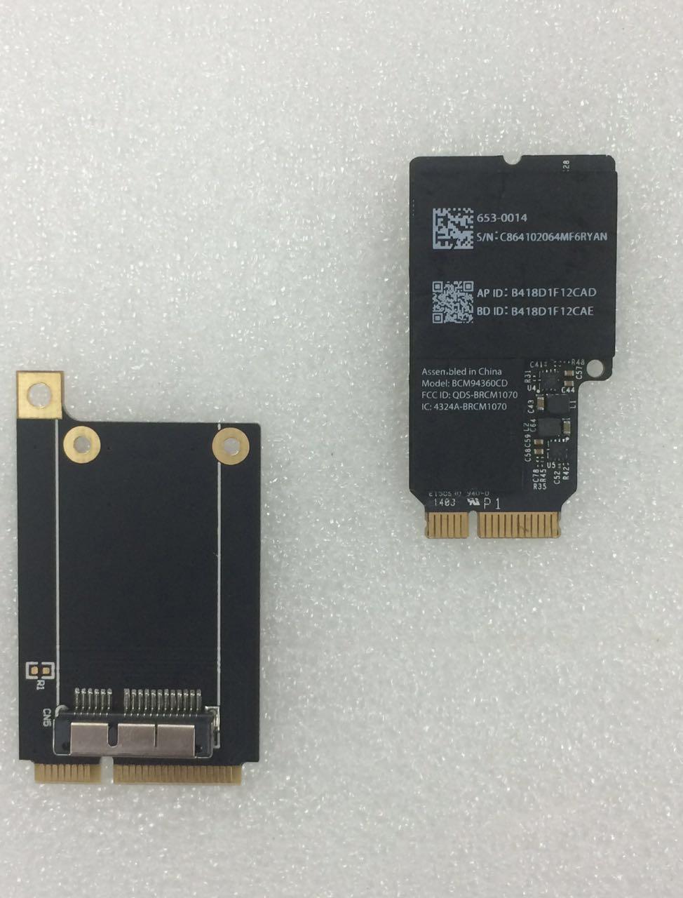 Broadcom BCM4360 BCM94360CD BCM94360CDAX + Mini adaptateur PCIe 802.11AC WIFI WLAN + Bluetooth4.0 Carte