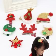 1PC New Girls Boys Hairband Christmas Tree Pentagram Issuing Card Hat Hair Accessories Antlers Cute Korean Version