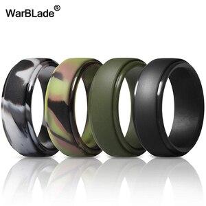 Силиконовые кольца WarBLade для мужчин, гипоаллергенные гибкие антибактериальные кольца из силикона для свадьбы, FDA