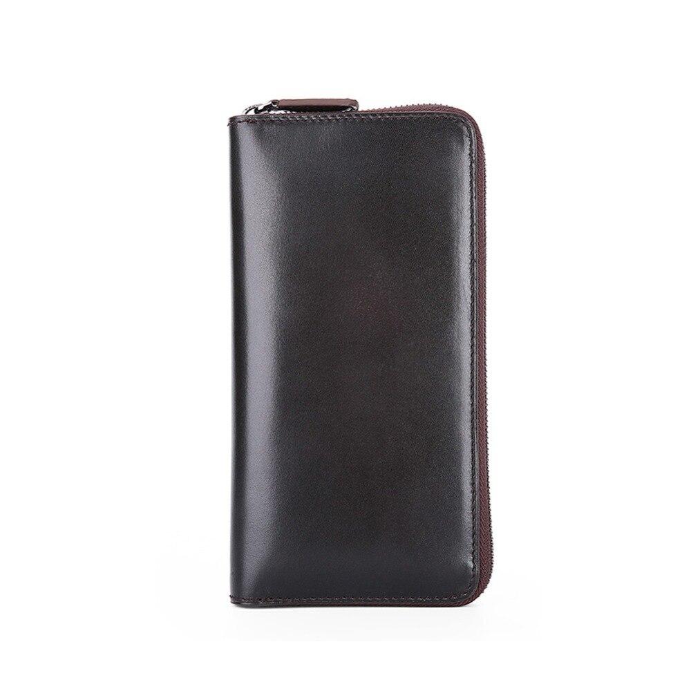 TERSE China manufacturer handmade leather purse soild font b men b font large capacity long font