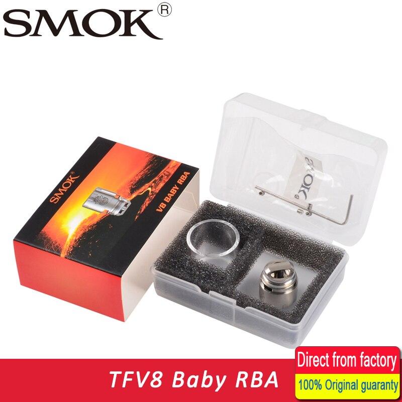 100% Originale Smok TFV8 Bambino bobina e V8 RBA RBA esclusivo tubo di vetro e tenuta anelli Fit For TFV8 Bambino serbatoio
