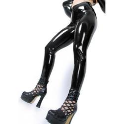 Shinly черный латекс плотные леггинсы для Для женщин латекса длинные штаны