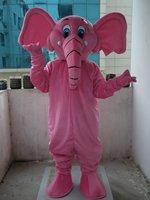 Professional New Pink Elephant Mascot Costume Fancy Dress Adult Size