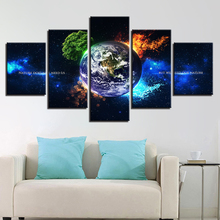 HD 5 Piece Canvas Prints Posters Wall Art Framework Earth 4 Season Tree Natural Landscape Paintings Home Decor Abstract Pictures