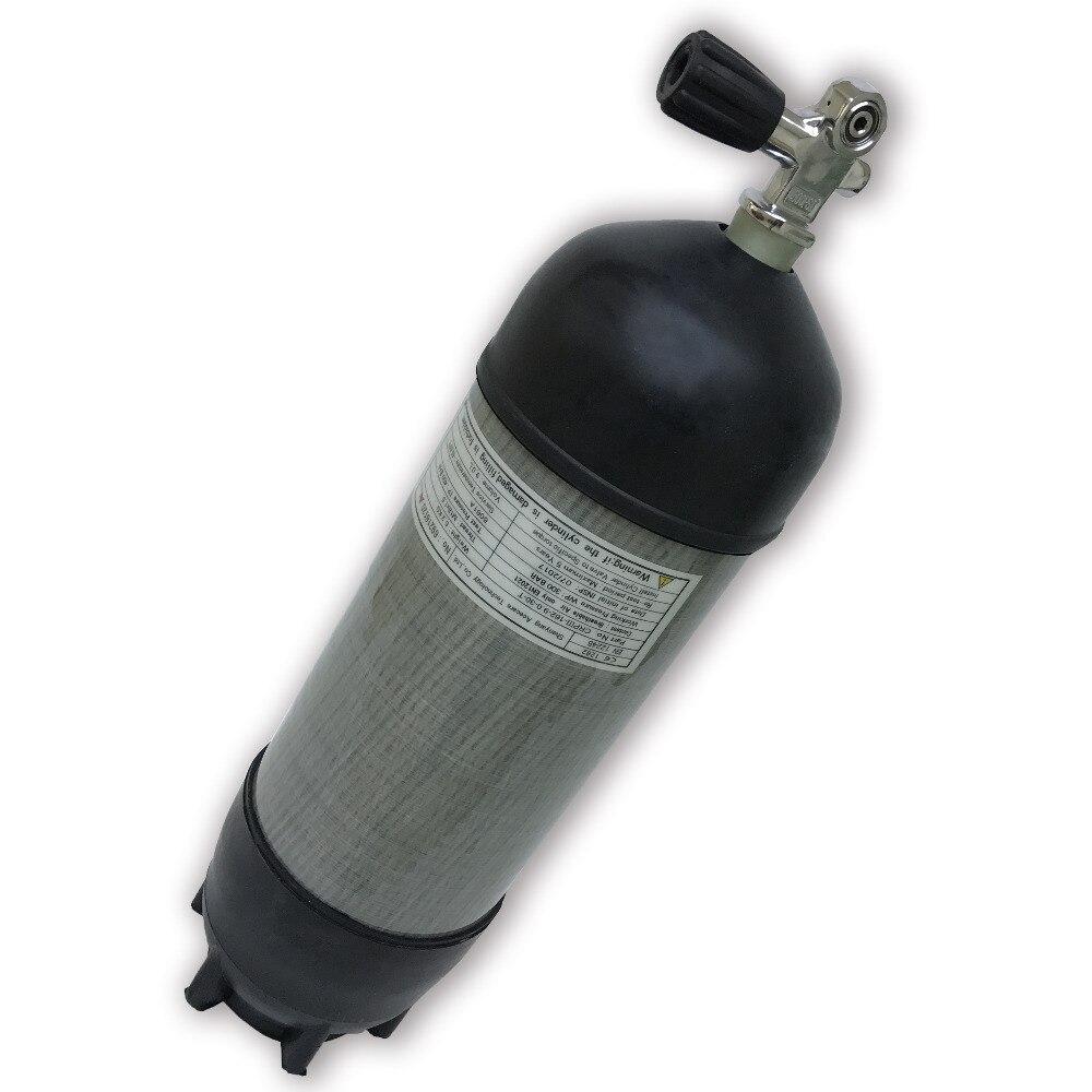 AC109591 9L CE cilindro de mergulho 30Mpa 4500Psi Tanque Compressor De Alta Pressão Do Cilindro de Mergulho Scuba Pcp Rifle Paintball Tanque de Carbono