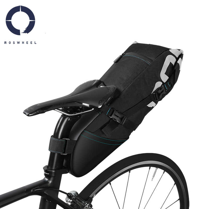 Roswheel Bisiklet Bisiklet Bisiklet Depolama Kuyruk Çanta Arka sele Çanta Paketi Küfe Çuval 8L 10L