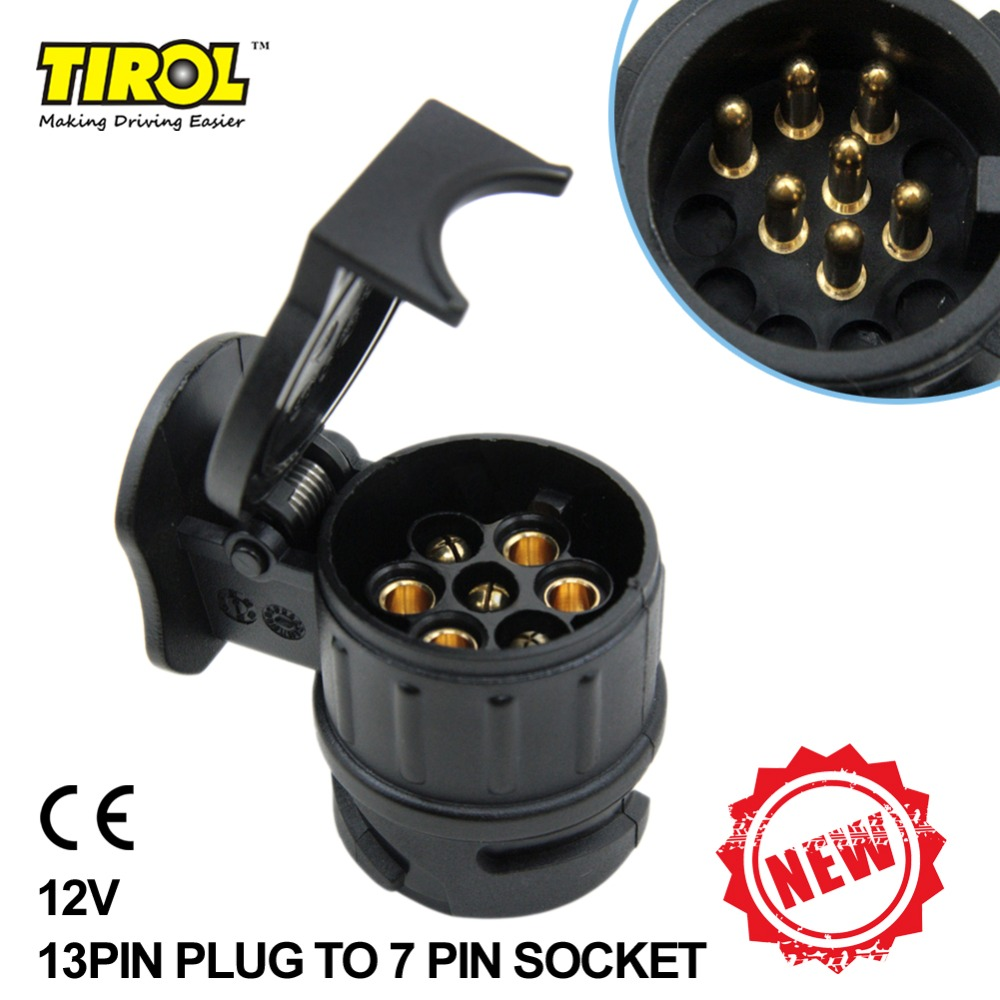medium resolution of tiro 13 to 7 pin trailer adapter black frosted materials trailer wiring connector 12v towbar towing