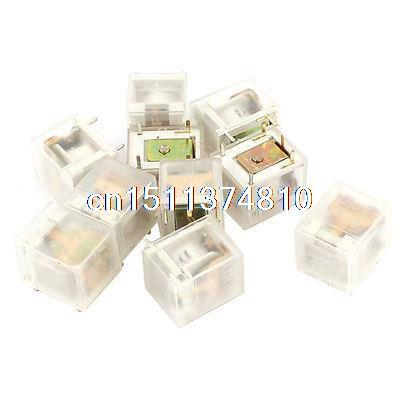 цена на 10 Pcs PCB Mounted DC 3V Coil Voltage 5 Pins Terminal Mini Electromagnetic Relay