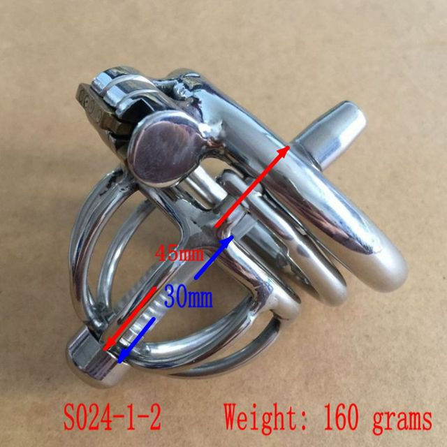 2016 Latest Design Small Male Chastity Device Cock Cage Bondage Peis-device Lock New Sex toy Men Chastity Belt  S024-1-2