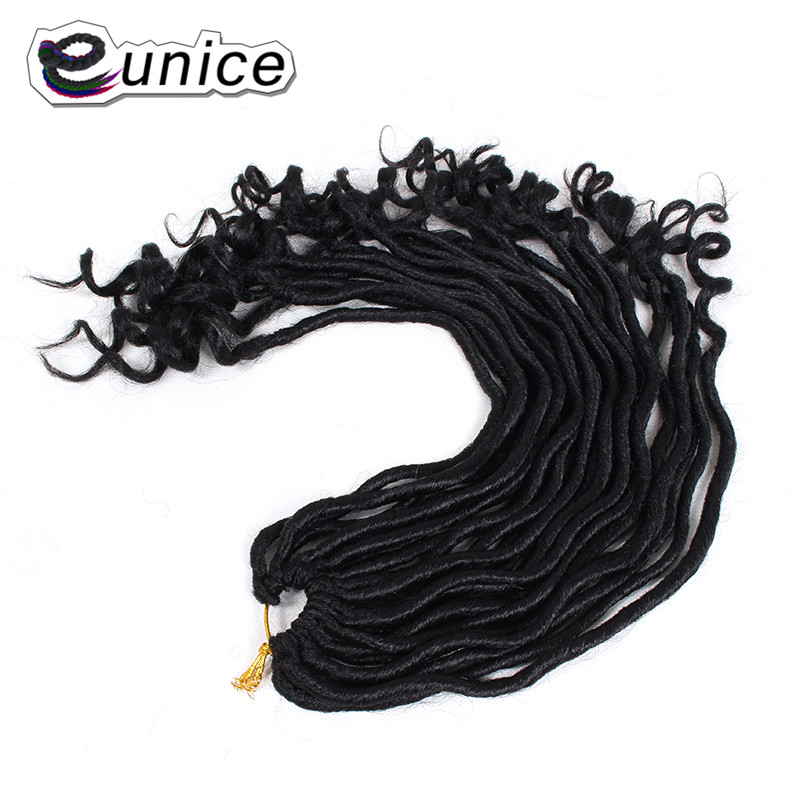 Faux Locs Curly Heat Resistant Synthetic Hair Extensions (61)